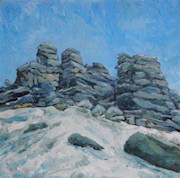Snow at Hound Tor